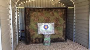 archery backstop home made from carpet under 50