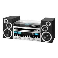 50 watt classic cd stereo record player with bluetooth