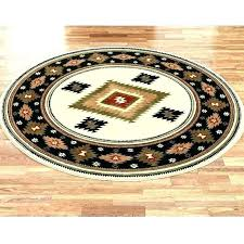 rugs 6 round furniture magnificent black ivory 7 foot 8