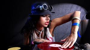 Female DJ playing turntable wearing black cap and white sleeveless top HD  wallpaper | Wallpaper Flare