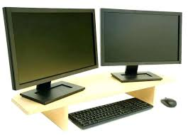 computer monitor stand ikea desk with shelf riser best dual ideas on for l48