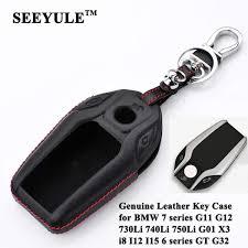 ซ อท ไหน seeyule genuine leather car key case cover shell protector styling accessories for bmw 7 series g11 g12 g32 x3 g01 i8 i12 i15 ในประเทศไทย