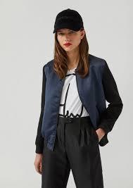 satin er jacket with eagle embroidered on the back