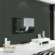 Home Brick Wallpaper 3d Black ...