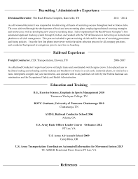 Amazing Railroad Conductor Resume Contemporary - Simple resume .