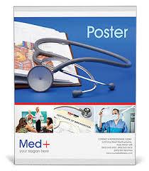 Stethoscope Medicine Book Poster Template