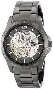 amazon com relic men s zr11853 automatic gunmetal watch watches relic men s zr11853 automatic gunmetal watch