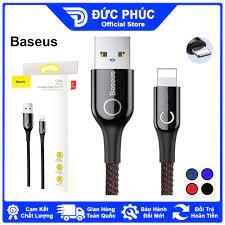 DÂY SẠC Baseus C Shaped Light Intelligent Power Off, cổng Lightning, sạc  nhanh 2.4A, tự ngắt khi đầy, đèn LED, dài 1m2 giảm chỉ còn 157,320 đ