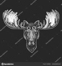 Los Los Rukou Nakreslené Ilustrace Pro Tetování Znak Odznak Loga