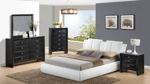 8269 3-Piece Queen Size Bedroom Set, Composition 2, White + Black