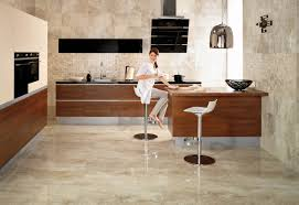 For Kitchen Floor Alluring Sleek White Ceramic Floor Tile For Contemporary Kitchen