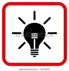 vector square blue icon lighting bulb. light bulb intensive red and black vector icon image style is a flat iconic symbol square blue lighting g