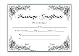 Marriage Certificate Template Microsoft Word Selimtd Marriage