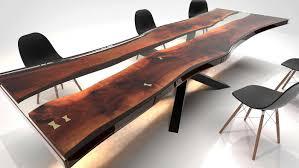 Live Edge Tisch Nabla Epoxidharz Split Lignumartem Einzelstück