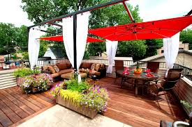how to use umbrellas in your garden or