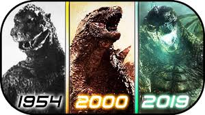 Evolution Of Godzilla In Movies 1954 2019 Godzilla King Of The Monsters 2019 Ready Player One 2018