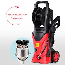 costway 2030psi electric pressure washer cleaner 1 7 gpm 1800w with hose reel red 6