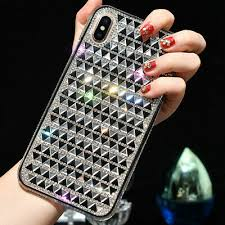 <b>Bling Glitter Triangle</b> Diamond Soft Case Cover For iPhone 8 XS ...