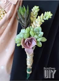 diy wedding crafts boutonniere succulent corsage tutorial