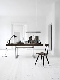 home office space inspiration yfsmagazine. Interior Design Inspirations, Home Office White Workspace With Dark Wood Desk,, Italian Bark Space Inspiration Yfsmagazine I