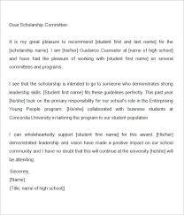Sample Reference Letter For Scholarship Sample Scholarship