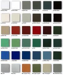 Senox Color Chart Gutters Gutter Guards Gutter Machines Accessories