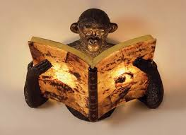 maitland smith monkey lamp photo 8