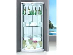 all glass china cabinet decoration dark wood display cabinet black corner display cabinet living room cabinets