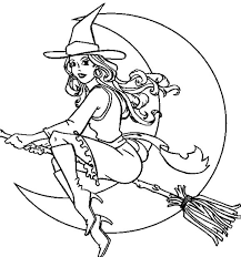 Small Picture Witch Coloring Games to Print And Play Fun for Halloween