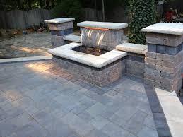 raised patio pavers. Paver Patios - Popular Beautiful Waterfall And Raised Patio Using Unilock Brick Pavers