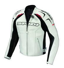 spidi track leather jacket white black clothing jackets spidi guanti invernali usa