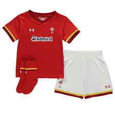 under armour shirts for boys. under armour | wales rugby home mini kit infant boys replica shirts for