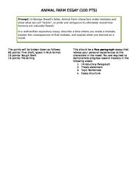 Animal Farm Essay Animal Farm Essay Prompt By Stephanie Eshbach Teachers Pay Teachers