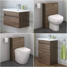 modern bathroom cabinets. Modern Bathroom Walnut Storage Cabinet Ceramic Basin Vanity Unit Toilet WC Cabinets