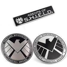 <b>3pcs</b> Avengers Marvel Agents of SHIELD <b>3D Chrome Car</b> Sticker ...