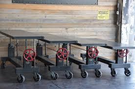 denver colorado industrial furniture modern. Warhol Crank Tables Denver Colorado Industrial Furniture Modern