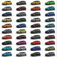 R Color Chart Chart Showing 40 Custom Colors For The 2019 Vw Golf R_o