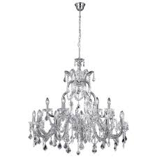 marie therese classic 18 light ceiling chandelier in polished chrome finish 3314 18