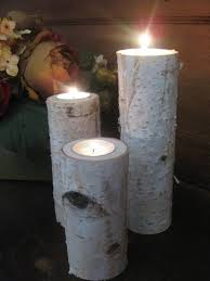 ... Attractive Accessories For Table Centerpiece Decoration With Birch Bark Candle  Holders : Charming Image Of Accessories ...