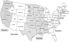 Time Zone Map Pst Us Time Zones Chart Current Us Time Zone