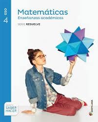 Marvelous Portada De Libro De Texto De Matemáticas Académicas   4º ESO.