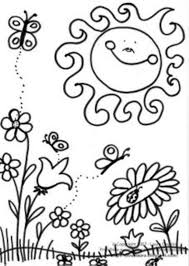 Small Picture Scene Of Spring Coloring Page kleurplaten Pinterest Scene