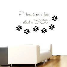 dog paw print wall decals pet vinyl wall decal dog e paw pet dog paw print wall decals