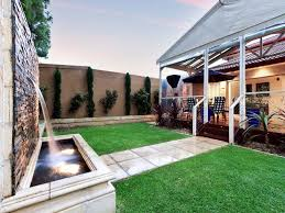 Small Picture garden design using grass with deck fountain Gardens photo 180081