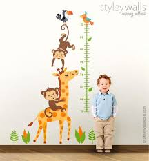 Growth Chart Wall Decal Giraffe Growth Chart Wall Decal Monkey Growth Chart Wall Sticker Giraffe Wall Decor Monkey Nursery Wall Decor