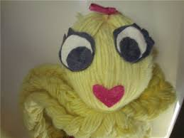Vintage yarn octopus toy