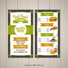 Food Menu Design Food Menu Design Vector Free Download