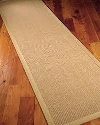 naturalarearugs temperley natural sisal fiber runner rug handmade cotton border non slip latex backing durable