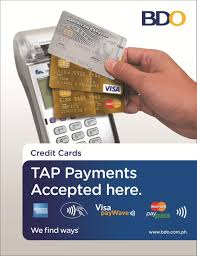 tap your credit card on the bdo pos terminal for transactions up to p 2 000 00 no printing of slips unless required by the cardholder