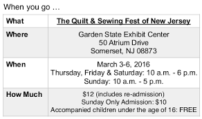 Glorious Color at the Quilt & Sewing Fest of New Jersey - Quiltfest & ... Paper, Scissors; BERNINA of America/Olde City Quilts, ABM Innova/Olde  City Quilts, BabyLock/Pocono Sew & Vac, Elna/Pocono Sew & Vac, Handi Quilter,  ... Adamdwight.com